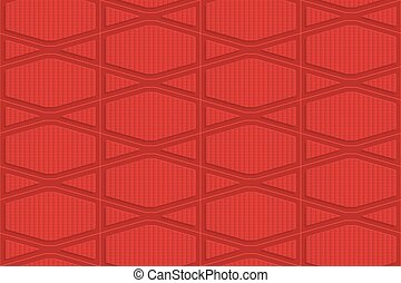 Red checkered squashed hexagons