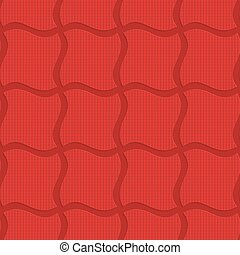 Red checkered wavy squares