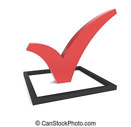 Red CheckMark in Checkbox  - Red CheckMark in a Checkbox