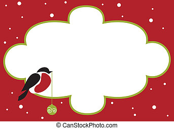red chect bird on red background , vector illustration