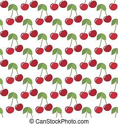 red cherries seamless