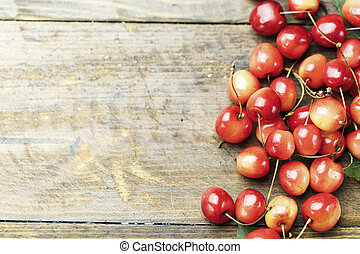 Red Cherries. top view