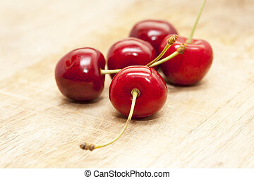 red cherry closeup