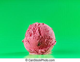 red cherry ice cream
