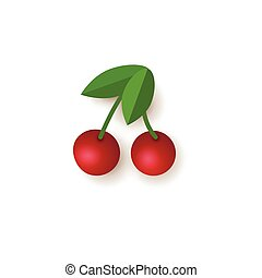 Red cherry, jackpot slot machine gambling symbol