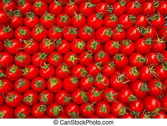 Red cherry tomatoes.