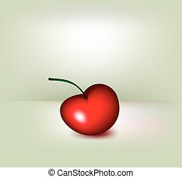 Red cherry. Vector