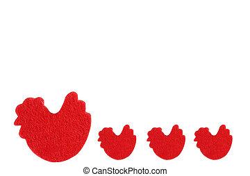 Red chicks