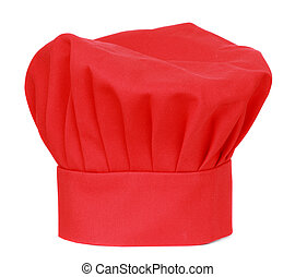 chief cook hat - red chief cook hat isolated on white