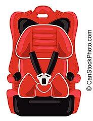 red child car seat