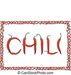 Red chili pepper - The frame and the floor of the red hot...