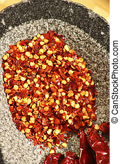 Red Chilly Flakes - seeds of red chilly. Often used for...