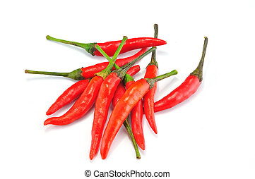 Red Chilly on White background