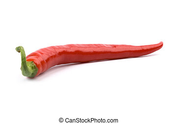 red chilly pepper isolated on white background