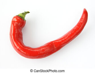 Red chilly pepper - Single spicy red chilly pepper on over...