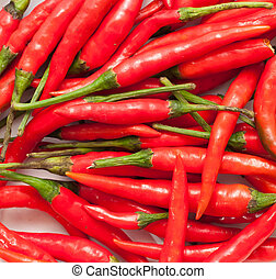 Red chilly peppers - red chilly peppers in thai cuisine