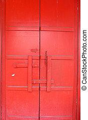 Red chines door