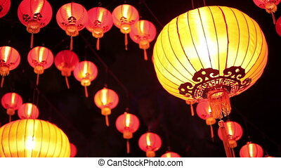 Chinese lanterns in Malaysia - red Chinese lanterns in...