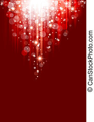 Red Christmas Abstraction
