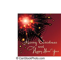 Red Christmas and New Year background