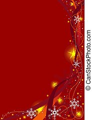 Red Christmas Background - christmas background illustration