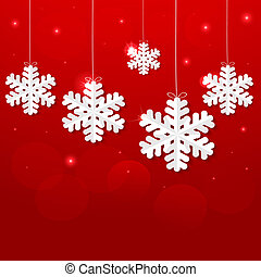 Red Christmas background. Vector EP