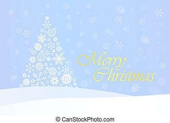 Christmas Background with Gold Tree