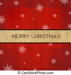 Red Christmas Background With Paper