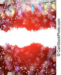 Red christmas background with snowflakes. EPS 10