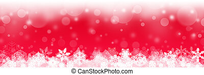 red christmas background with white snowflakes - merry christmas banner
