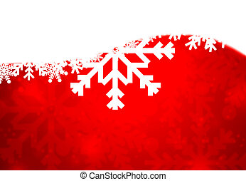 Red christmas background with white snowflakes texture