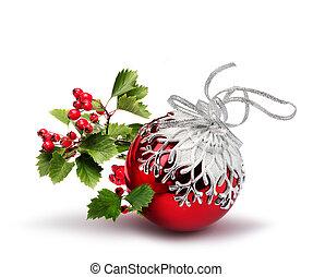 Red Christmas ball hawthorn
