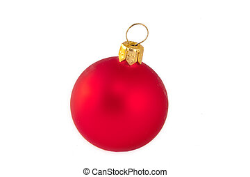 red christmas ball isolated on white background