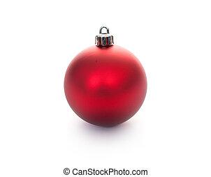 Christmas ball - Red Christmas ball isolated on white