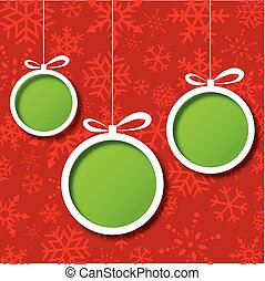 Red Christmas balls abstract backgr - Abstract Xmas greeting...