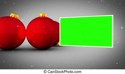 Red christmas balls animation