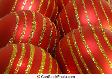 red christmas balls background