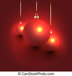 Red Christmas Balls Composition