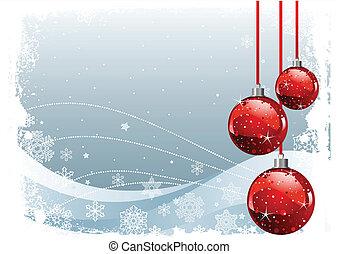Red Christmas Balls - Red Christmas Balls on Christmas...