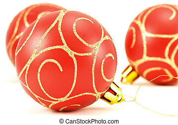 christmas balls with ornament