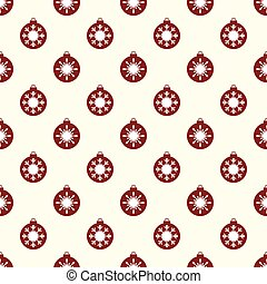 Red Christmas balls with white snowflakes seamless pattern