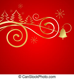 Red christmas banner.