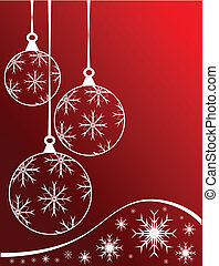 Red Christmas Baubles Background