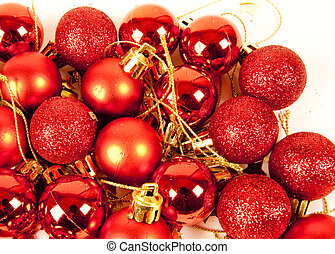 red christmas baubles