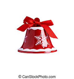 Red Christmas bell isolated on white background