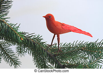 Red Christmas Bird