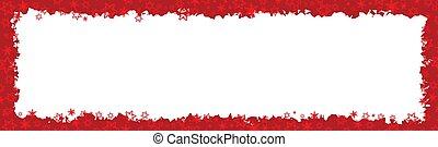 Red Christmas Border