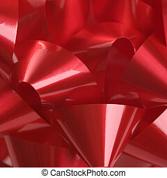 Red Christmas bow.