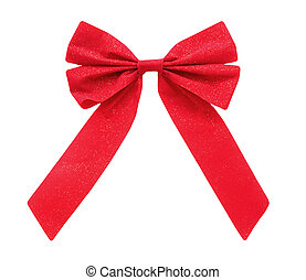 Christmas bow isolated