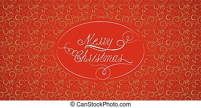 Red Christmas card with a calligraphy